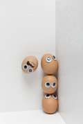 Funny face type cute eggs 11932