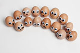 Funny face type cute eggs 12533