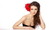 Woman with flowers 25691