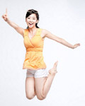 Happy people jumping material 12235