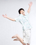 Happy people jumping material 12659