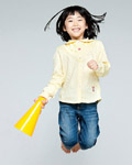 Happy people jumping material 12741