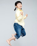 Happy people jumping material 14081