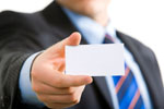Holding blank business card material 23701