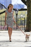 Candice Swanepoel Walks a Dog for a Photo Shoot 32980