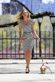 Candice Swanepoel Walks a Dog for a Photo Shoot 32983