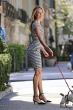 Candice Swanepoel Walks a Dog for a Photo Shoot 33007