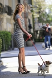 Candice Swanepoel Walks a Dog for a Photo Shoot 33012