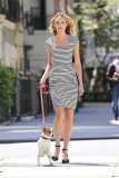 Candice Swanepoel Walks a Dog for a Photo Shoot 33036