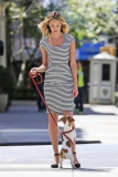 Candice Swanepoel Walks a Dog for a Photo Shoot 33055