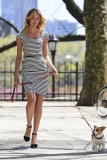 Candice Swanepoel Walks a Dog for a Photo Shoot 33086