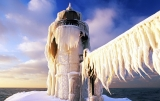 snow covered st  joseph lighthouse 33660