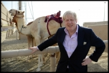 Boris Johnson Visits the Camel Races in Doha 33753