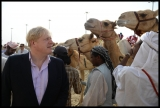 Boris Johnson Visits the Camel Races in Doha 33757