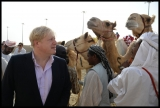 Boris Johnson Visits the Camel Races in Doha 33764