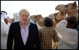Boris Johnson Visits the Camel Races in Doha 33766