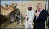 Boris Johnson Visits the Camel Races in Doha 33777