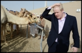 Boris Johnson Visits the Camel Races in Doha 33780