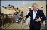 Boris Johnson Visits the Camel Races in Doha 33784