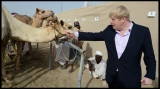 Boris Johnson Visits the Camel Races in Doha 33787