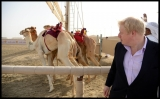 Boris Johnson Visits the Camel Races in Doha 33798