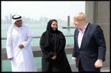 Boris Johnson Visits the Camel Races in Doha 33805