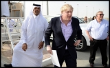 Boris Johnson Visits the Camel Races in Doha 33820