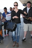 January Jones Arrives in LA 34093