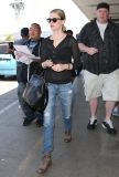 January Jones Arrives in LA 34108