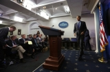 President Obama Delivers Remarks On Capture Of Alleged Boston Marathon Bomber 34557