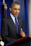 President Obama Delivers Remarks On Capture Of Alleged Boston Marathon Bomber 34563