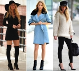 It seems that Blake Lively style feeling can not put a foot wrong and heels. 34631