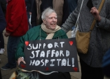 Thousands Of Demonstrators March Through Stafford To Save Stafford Hospital F... 35371