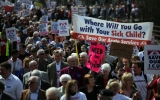 Thousands Of Demonstrators March Through Stafford To Save Stafford Hospital F... 35404
