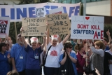 Thousands Of Demonstrators March Through Stafford To Save Stafford Hospital F... 35415