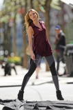 Candice Swanepoel Poses in NYC 35798