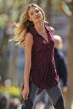 Candice Swanepoel Poses in NYC 35800