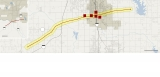 The path of the Tornado that occurred near Oklahoma City 40170
