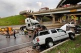 A tornado caused extensive damage along I-40 at the junction with US 177 on the west side of Shawnee,, Okla. 41179