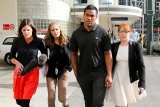 Julian Savea Arrives for Her Court Hearing 41196