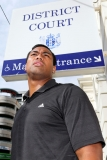 Julian Savea Arrives for Her Court Hearing 41207
