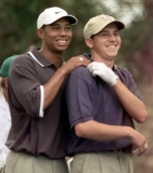 April 9, 1999 Tiger Woods, left, Sergio Garcia grabbed the shoulder. 41209