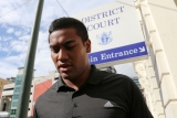 Julian Savea Arrives for Her Court Hearing 41214