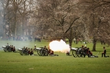 Gun Salute Marks the Queen's 87th Birthday 41901