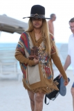 Erykah Badu Hits the Beach 42618