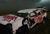 A meteorologist from The Weather Channel was injured after his car (seen here) was thrown 200 yards by the storm 44354