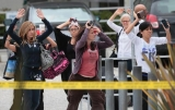 Santa Monica College was placed on lockdown after a crazy man, who also was killed Friday 44461