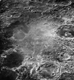 In the light of the moon, you can see the ancient crust was formed 4.5 billion years ago. And then there is the lunar crater, bowl-shaped depressions, also formed by the impact of asteroids crashing into the moon's surface. 44580