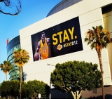 Below is a billboard the Lakers put up on the side of Staples Center: 44750