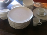 White dinner set with cups and mugs $70.00 Negotiable 45043